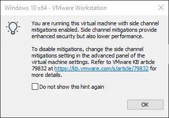 vmware side channel mitigation message