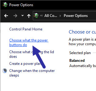 click choose what power buttons do