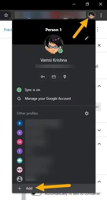 create new profile in chrome