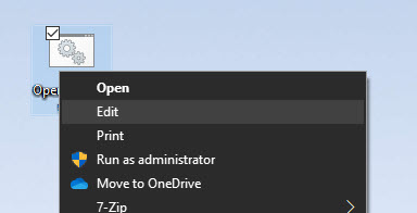 edit batch file