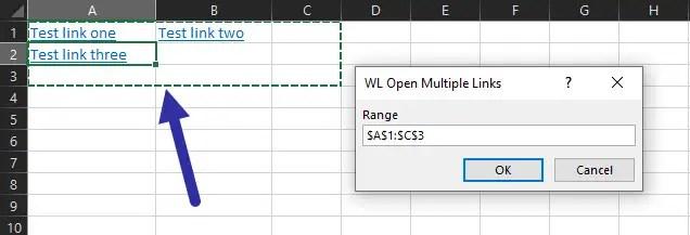 select range in excel worksheet