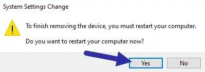 restart Windows computer