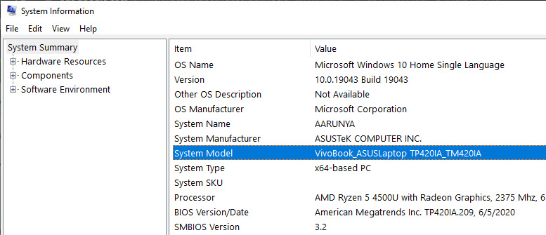 check laptop mode in Windows 10