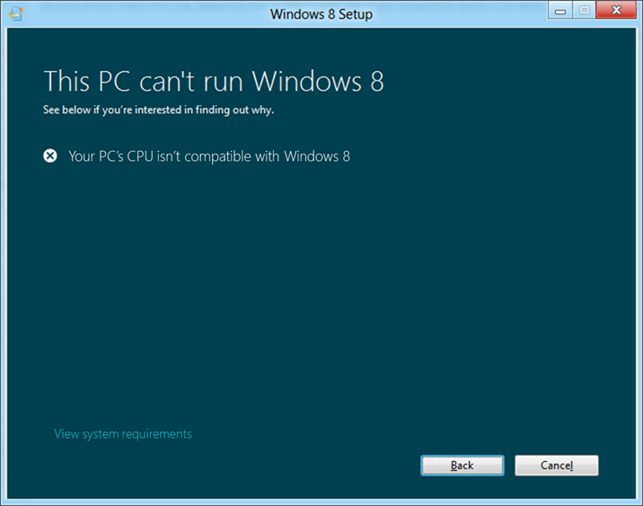 windows-8-not-supported-error-message