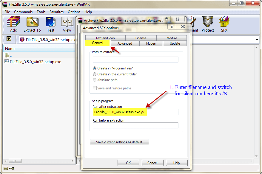 Create Setup File Using Winrar
