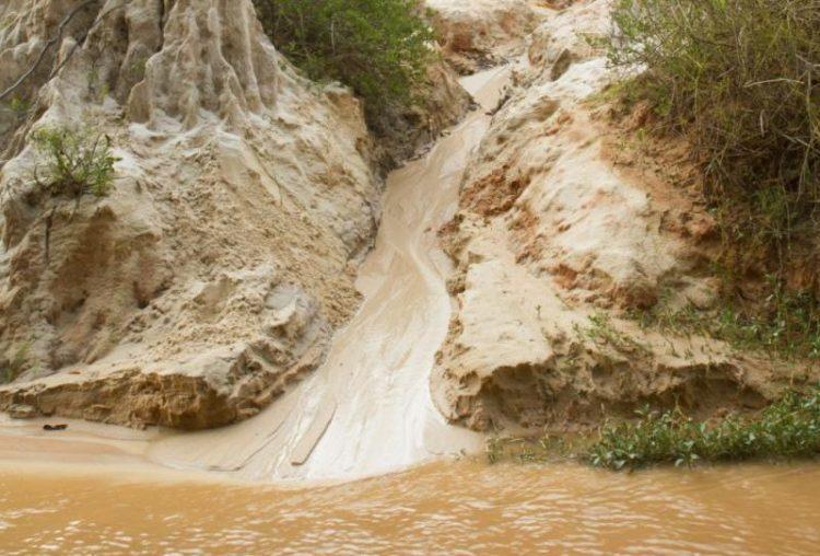 tanah longsor dan erosi terjadi karena pengangkutan tanah oleh air