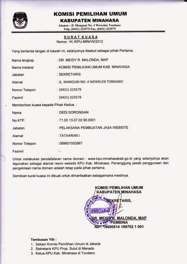 Format Surat Kuasa Altin Northeastfitness Co