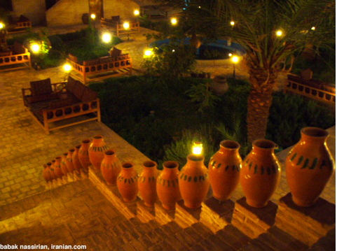 Strikingly beautiful garden in Yazd, Iran.