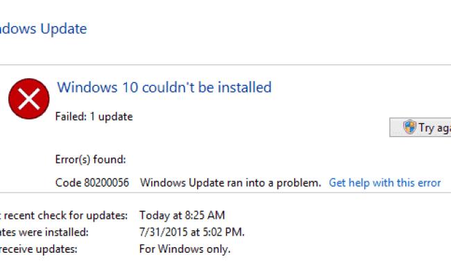 Fix Windows 10 Error 80200056 Using These 3 Quick Methods