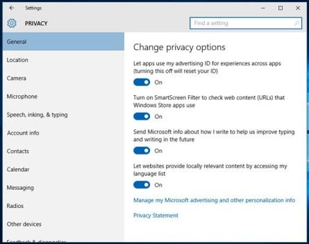 Windows 10 privacy guide