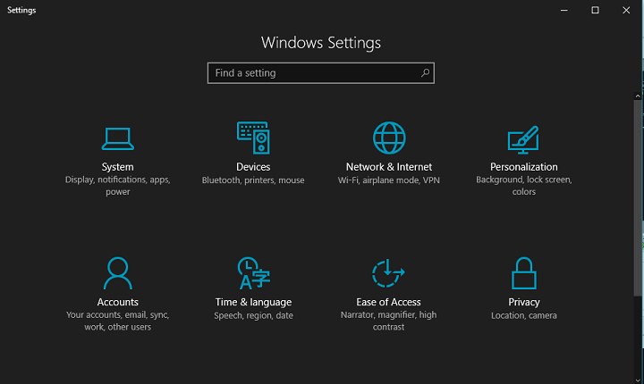 windows 10 the dark mode