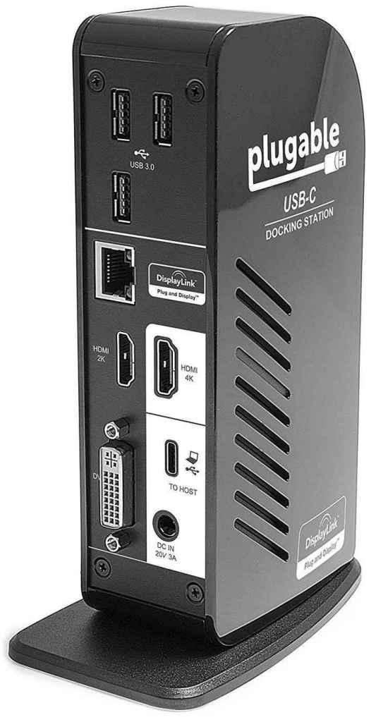 laptop-docking-stations-Plugable-USB-C-Triple-Display-Dock