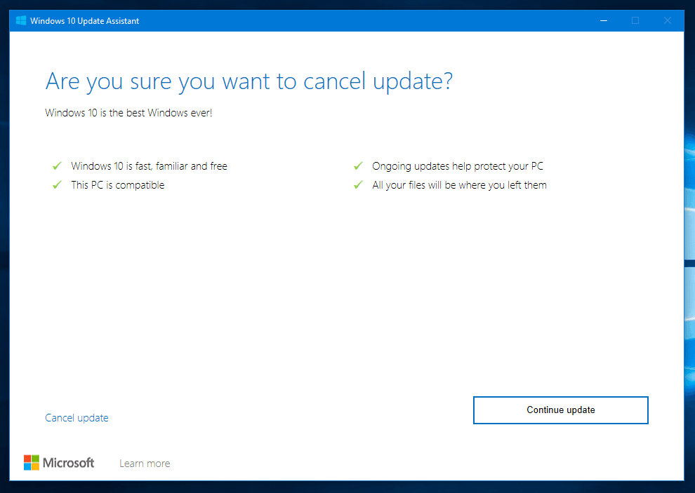 Cancel Windows 10 Updates
