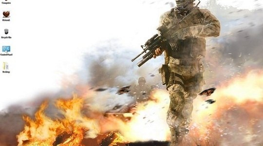 Modern Warfare 2 Windows 7 Theme
