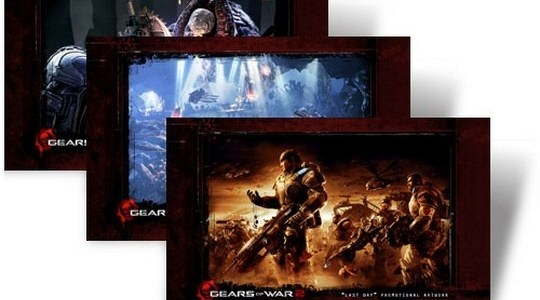 Gears Of War 2 Windows 7 Theme With Game's Sounds