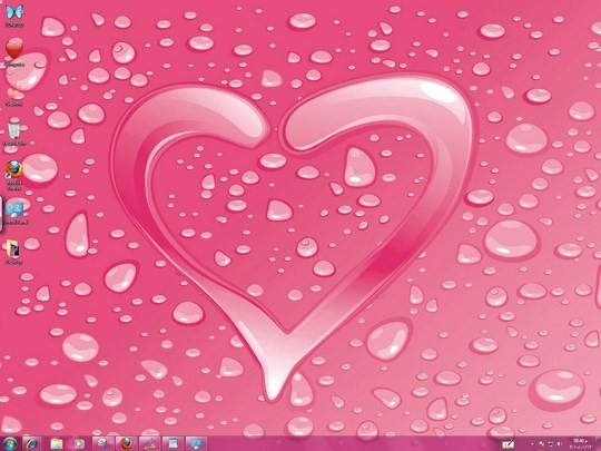 Hearts Windows 7 Themes Icons Cursors Bird Sounds
