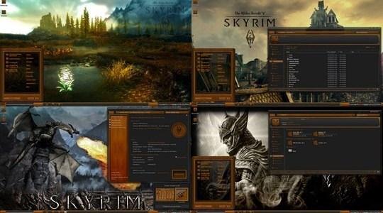 Skyrim Elder Scrolls Wood Windows 7 Theme suite