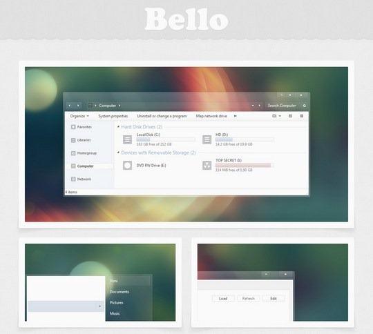 Download Free Bello Windows 7 Visual Style