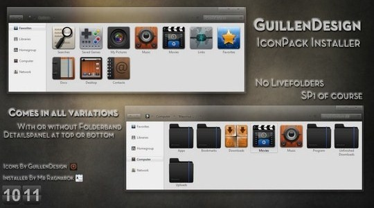 GuillenDesign IconPack Windows 7 Installer