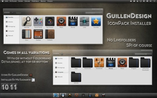 Download Free GuillenDesign IconPack Windows 7 Installer