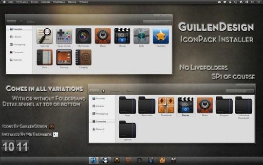Download Free GuillenDesign IconPack Windows 7 Installer