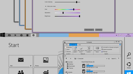 Gray8 Light Series Windows 8 Visual Style