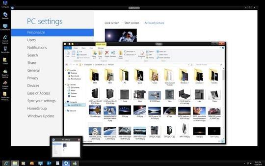 Download Free Dark Theme Windows 8 Visual Style