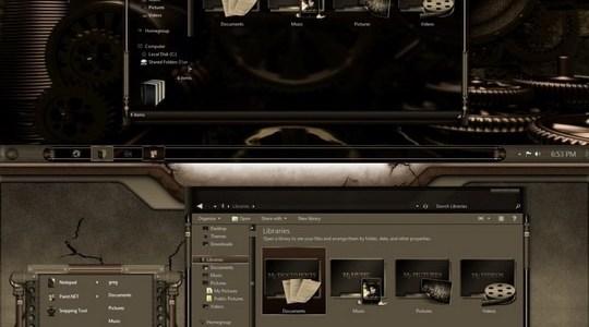 Mechanism-Sepia Windows 7 Visual Style