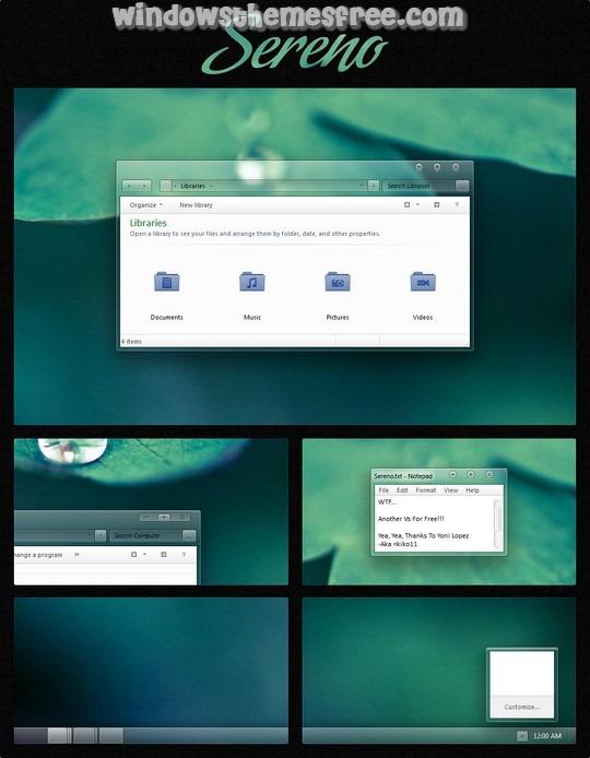 Download Free Sereno Windows 7 Visual Style
