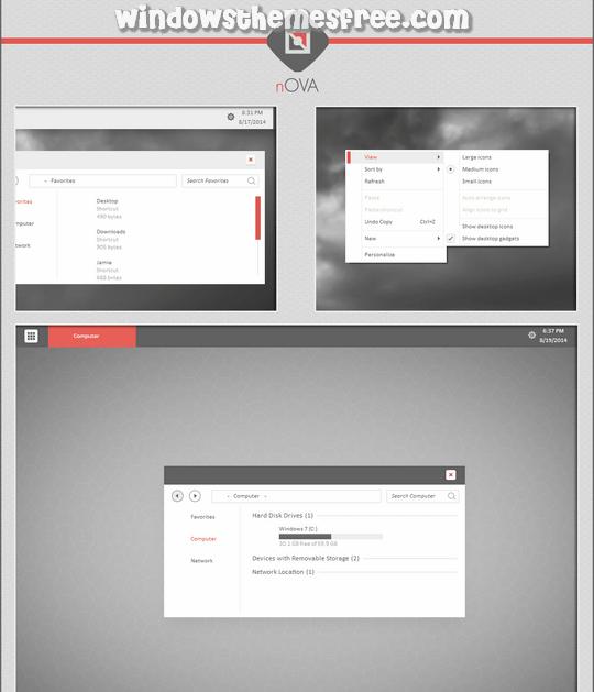 Download Free nOVA Windows 7 Visual Style