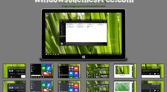 Different Touch 10 Windows 10 Visual Style