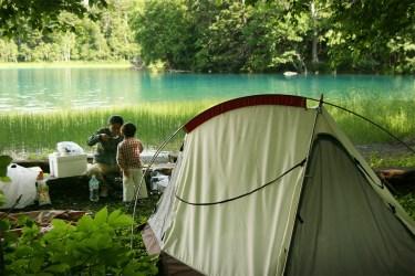 Hokkaido lakeside camping