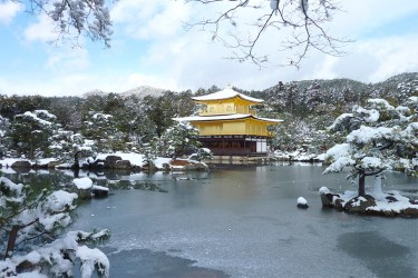Kyoto: Kinkakuji in snow