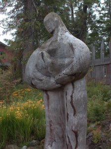 Wood sculpture from Tofino: photo by Kimberly Rex
