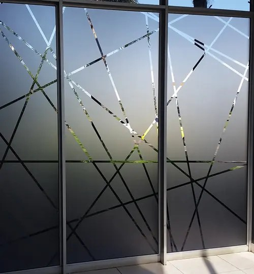 DECORATIVE OFFICE WINDOW FROSTING 1