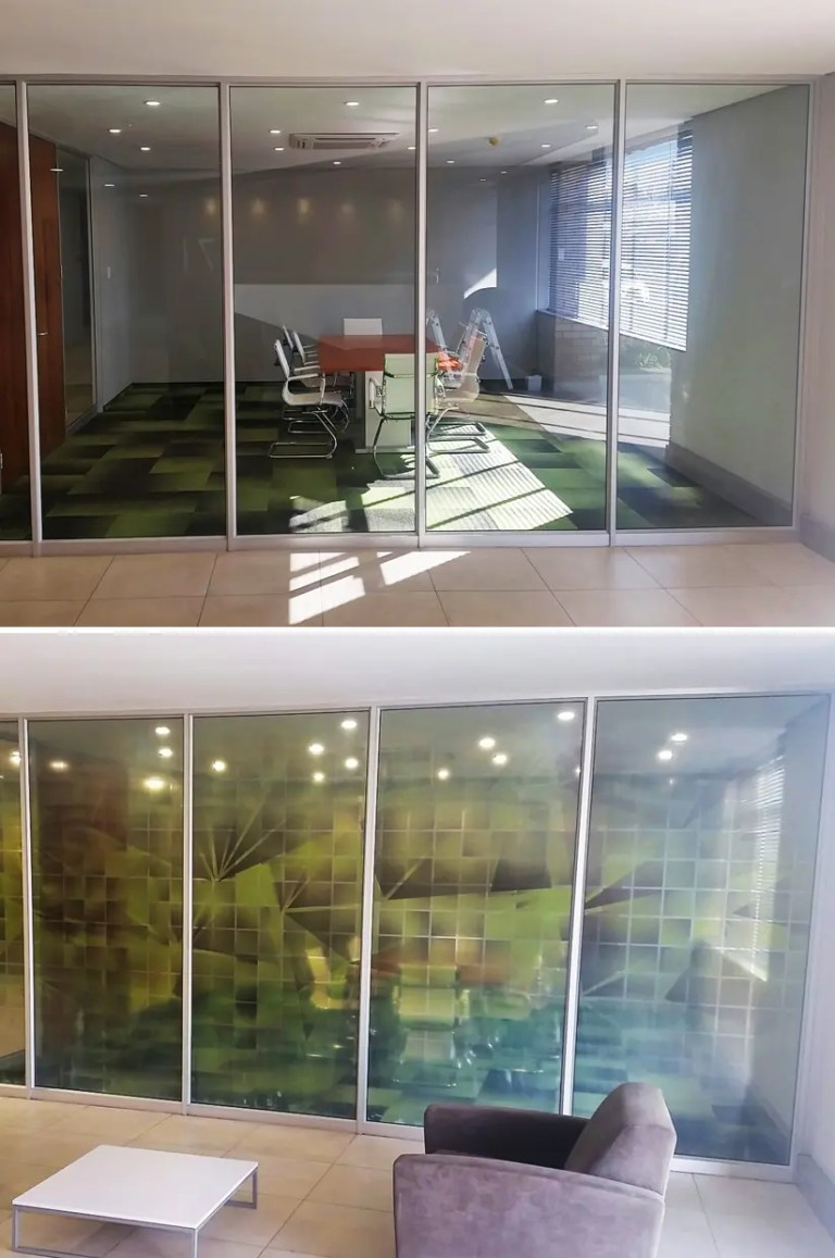 clear vinyl print offices
