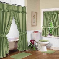 Bathroom Window Shower Curtain Sets | Window Treatments ...