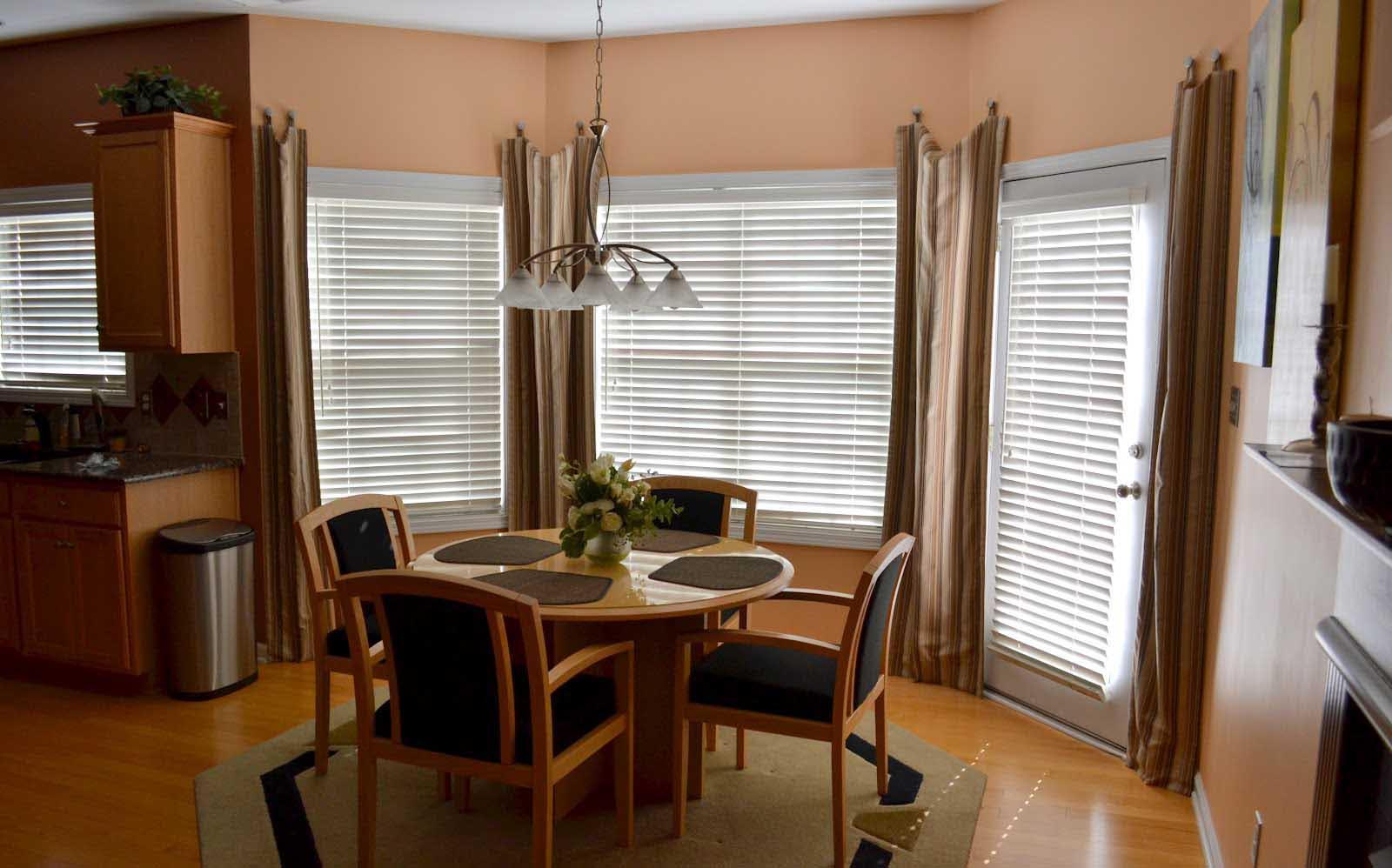 kitchen bay window treatments hgtv remodel dining room