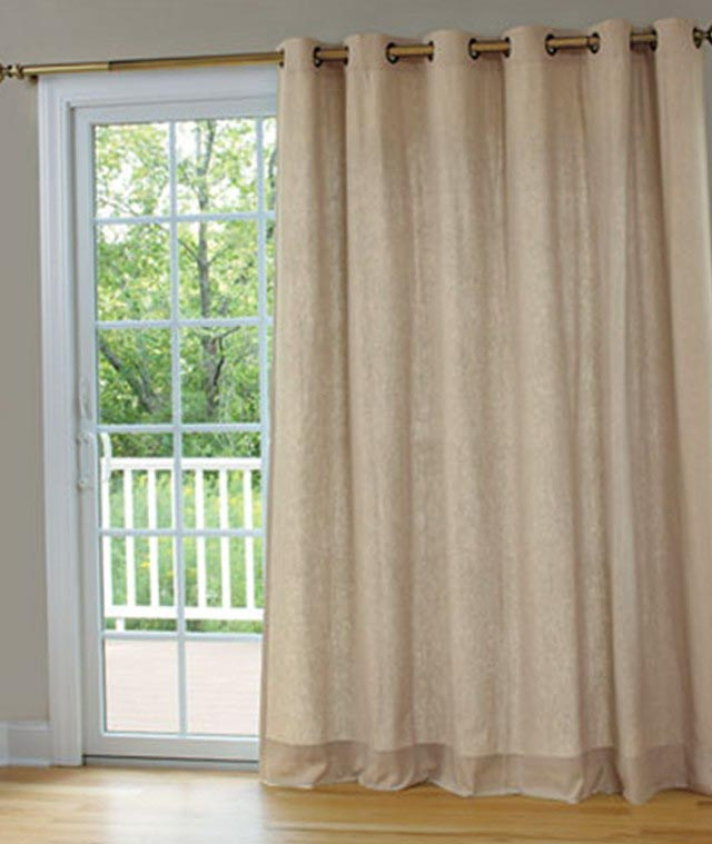 Patio Door Curtain Rod