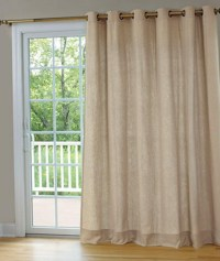 Patio Door Curtain Rod | Window Treatments Design Ideas