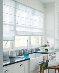 White Kitchen Window Treatments | Window Treatments Design ...
