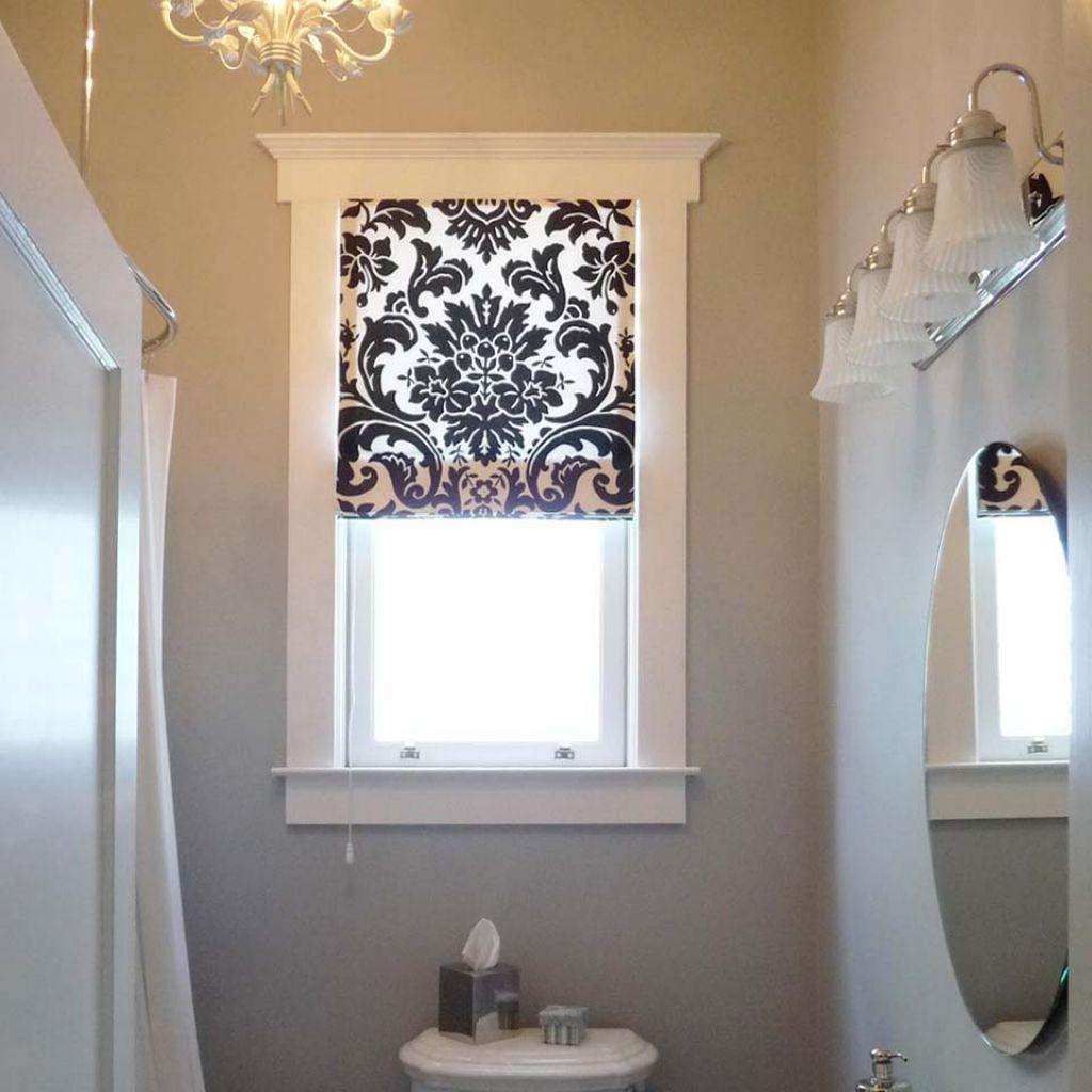Curtain Ideas For Small Bathroom Window Image Of Bathroom And Closet