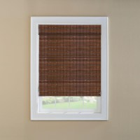 Bamboo Woven Wood Roman Shade | Window Treatments Design Ideas