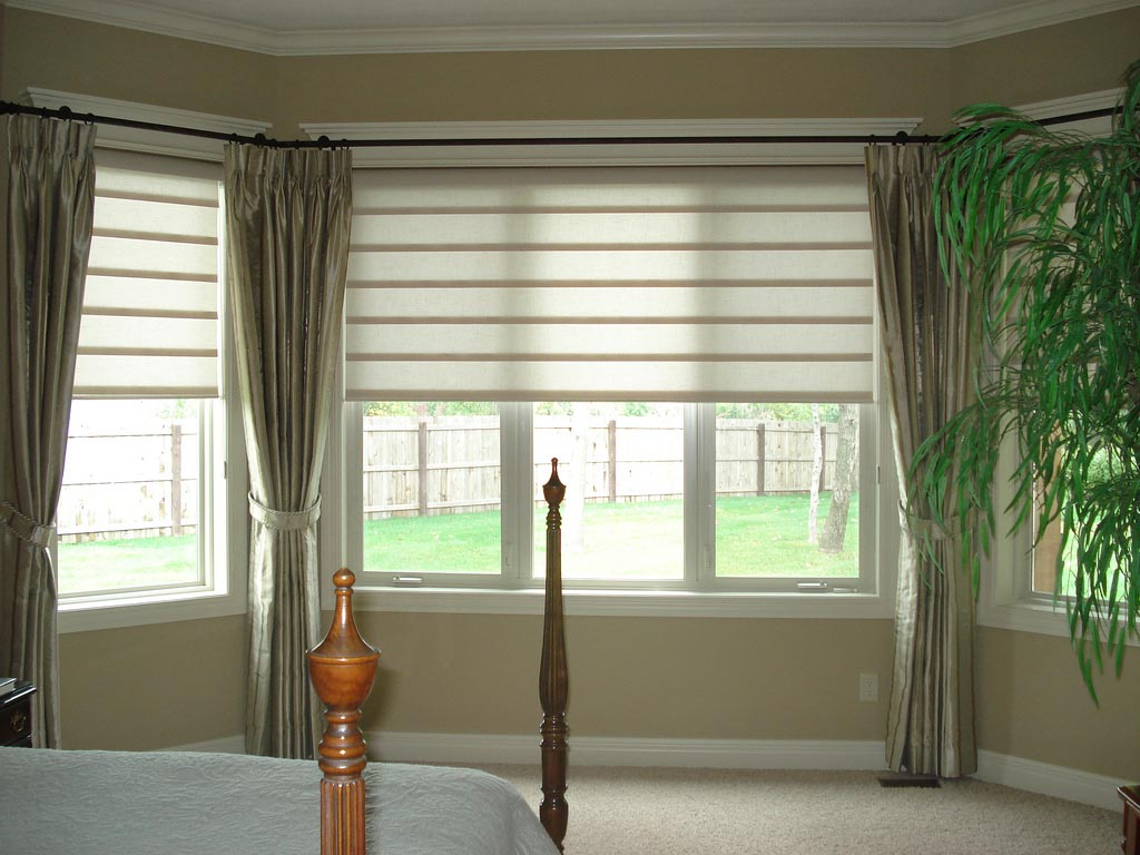 Bay Window Blind Ideas  Window Treatments Design Ideas