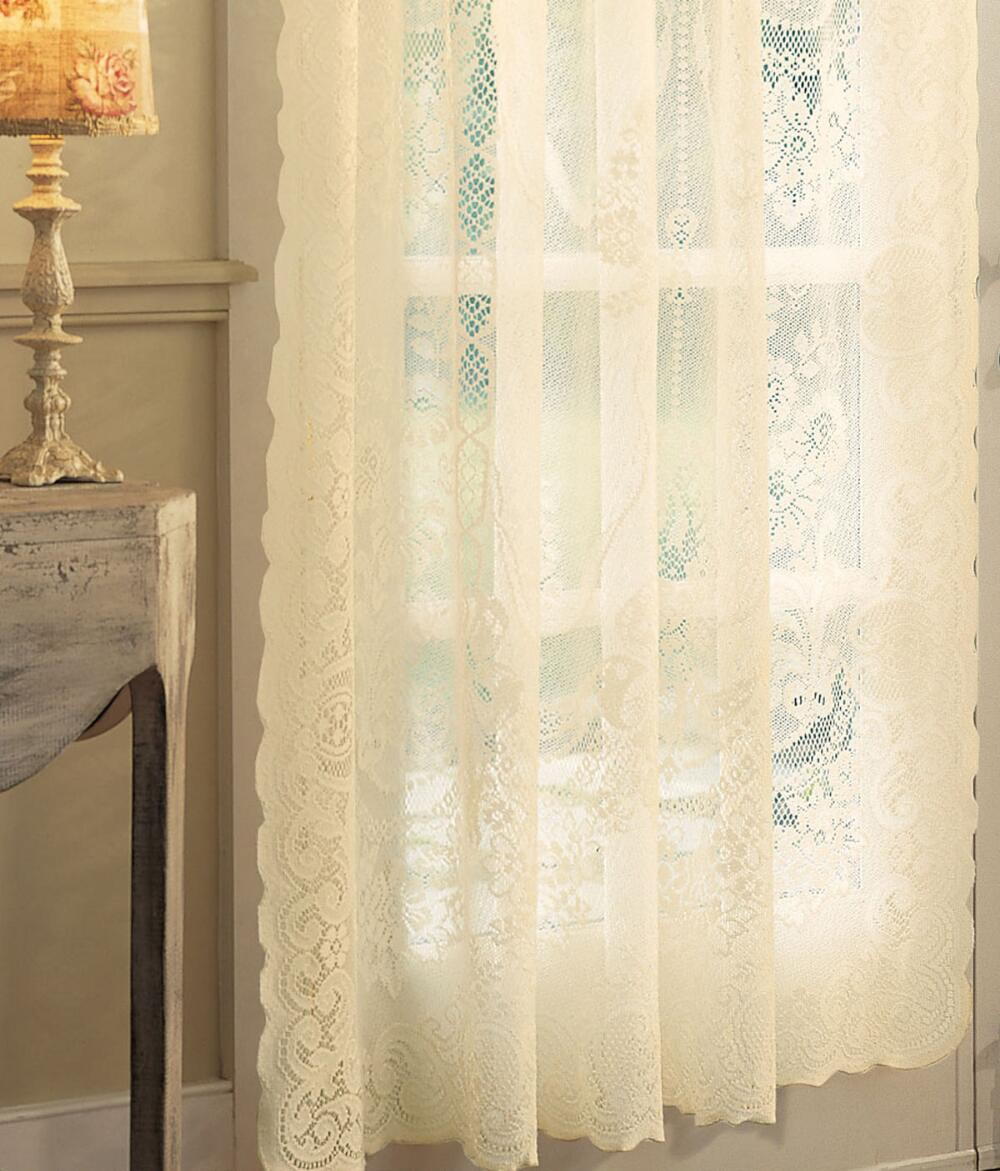 Country Curtains Lace Valance  Window Treatments Design Ideas