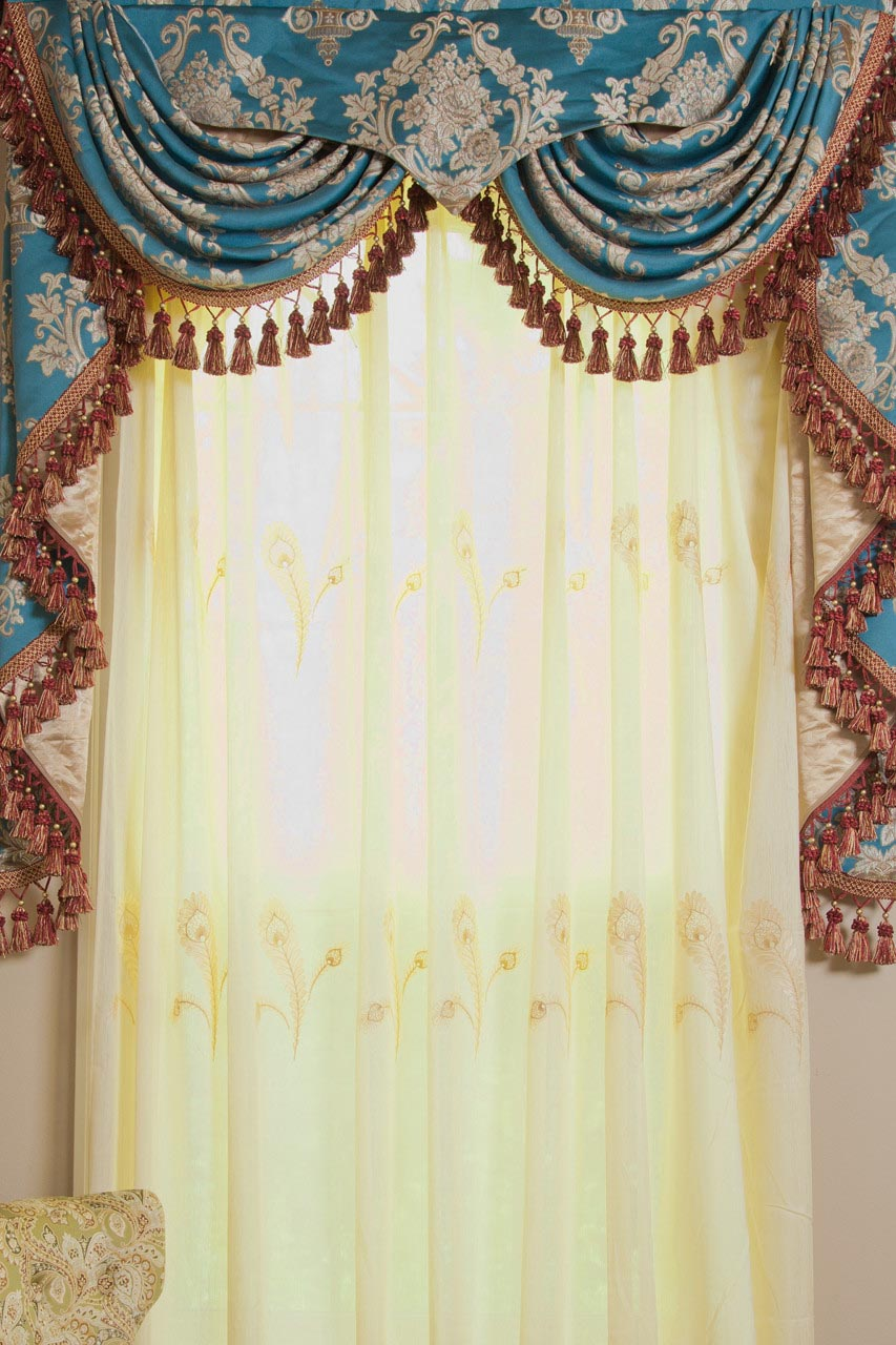 Curtains With Valances And Swags  Window Treatments