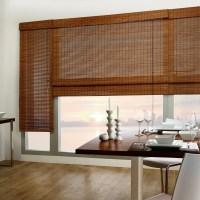 Custom Bamboo Roman Shades | Window Treatments Design Ideas