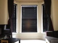 Dark Wood Window Blinds   Window Treatments Design Ideas