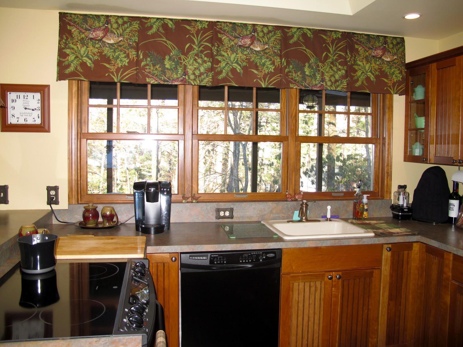 window treatments for kitchens home kitchen designs valances ideas design