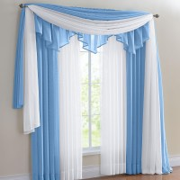 Lisette Sheer Scarf Valance | Window Treatments Design Ideas